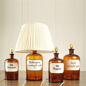 Apothecary Bottle Lamps