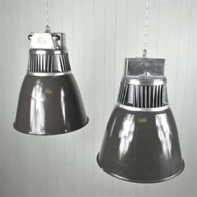 Large Czech Factory Pendant Lights