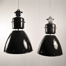 Huge Czech Factory Lights