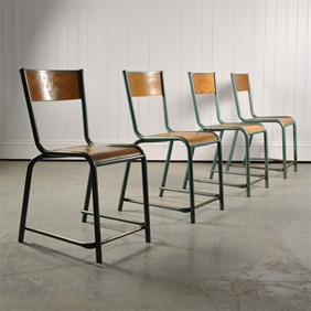 1940's Tubular Stacking Chairs