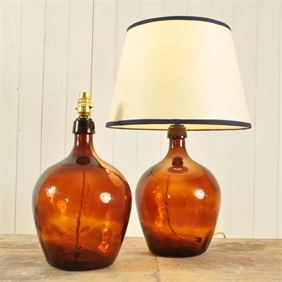 Pear Drop Bottle Lamps