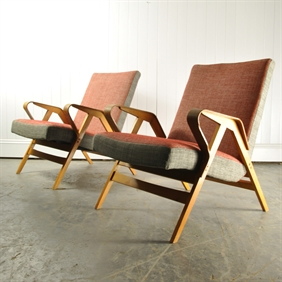 1950's French Armchairs