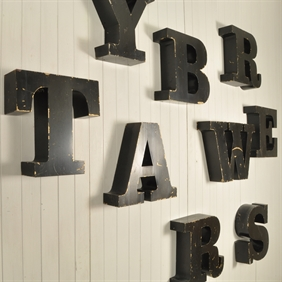 Reclaimed Metal Letters