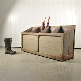 Industrial Umbrella Stand / Boot Rack
