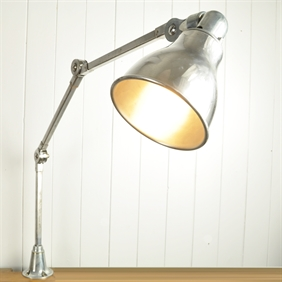 Polished Invisaflex Industrial Lamp