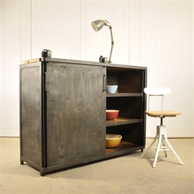 Chunky Steel Industrial Cupboard