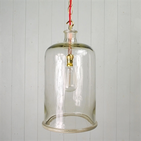 Converted Bell Jar Pendant Lights