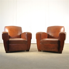 1940's Leather Armchairs
