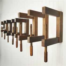 Antique Wooden Clamp Installation