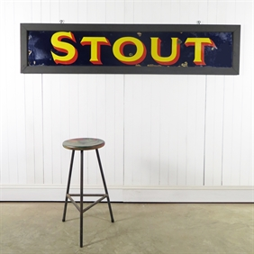 Stout Beer Enamel Sign