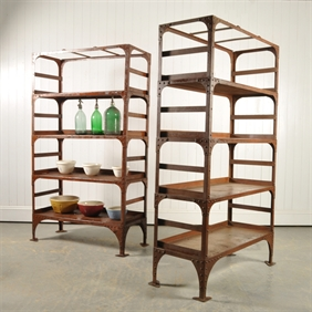 19th Century Industrial Shelves