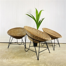 1960's Basket Chairs