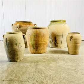 Antique Spanish Olive Jars