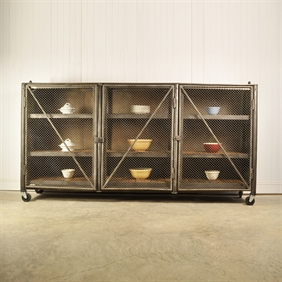 Vintage Steel Industrial Storage Unit