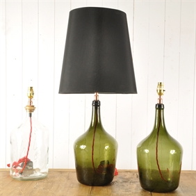 Small Vintage Bottle Lamps