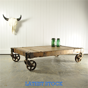 Vintage Foundry Trolley / Coffee Table