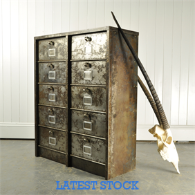 Polished Steel Industrial Cabinet