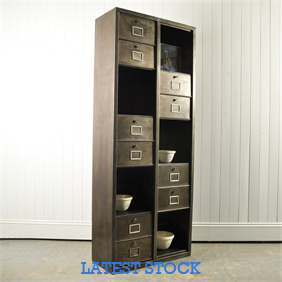 Tall Polished Steel Cabinet