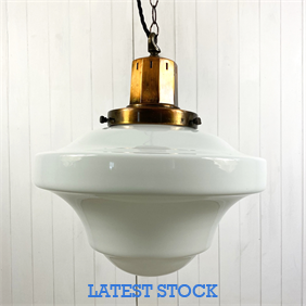 Edwardian Opaline Pendant Light