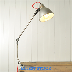 Vintage Factory Clamp Lamp