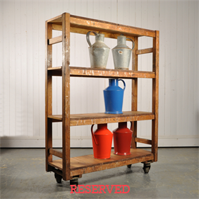 Vintage Textile Factory Trolley
