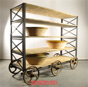 Large Industrial Shelving / Trolley