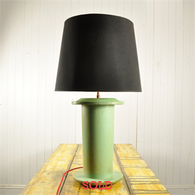 Upcycled Green Spool Lamp