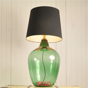 Pale Green Demijohn Lamp