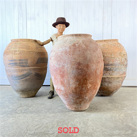 Large Antique Terracotta Pots