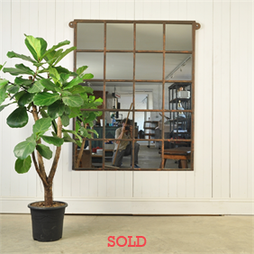 Cast Iron Factory Window Mirror