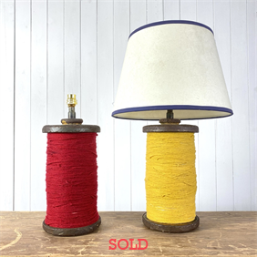 Repurposed Bobbin Lamps