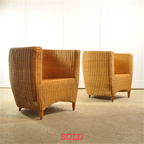 1970's Rattan Chairs