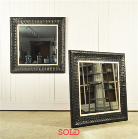 Repurposed Black Panel Mirrors