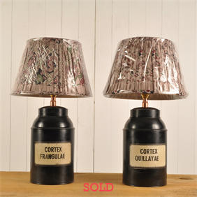 Medicine Canister Lamps