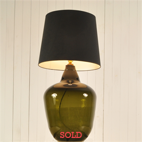 Large Olive Green Demijohn Lamp