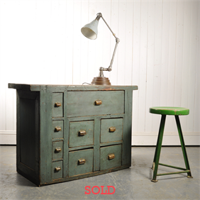 Duck Egg Industrial Chest of Drawers