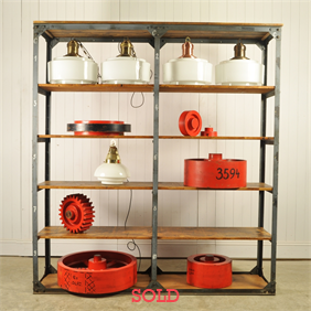 Vintage Dutch Industrial Shelving Unit
