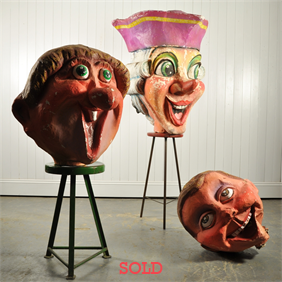 20th Century Papier Mache´Fairground Heads