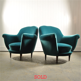 A pair of 1950's Italian Armchairs