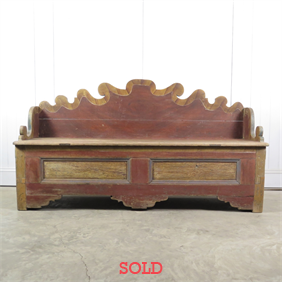 18th Century Swedish Bench / Settle