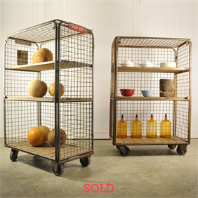 Vintage Industrial Shelving Racks