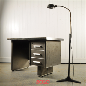 Polished Steel Desk