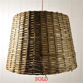 Vintage Wicker Basket Pendant Lights
