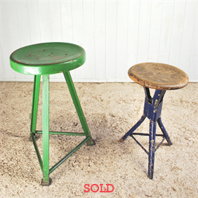 Painted Factory Stools