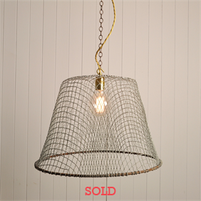 Wire Fisherman Basket Pendants