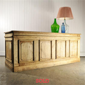 19th Century Oak Shop Counter