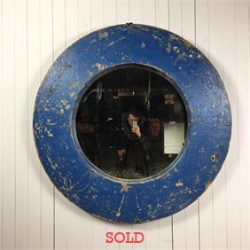 Large Round Factory Mirror