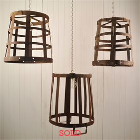 Iron-Strap Repurposed Basket Pendants