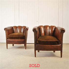 1920's Leather Armchair