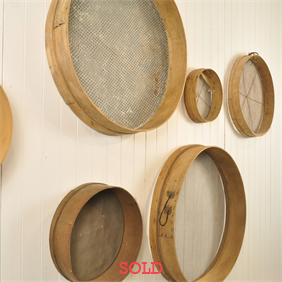 Vintage Sieve Wall Display